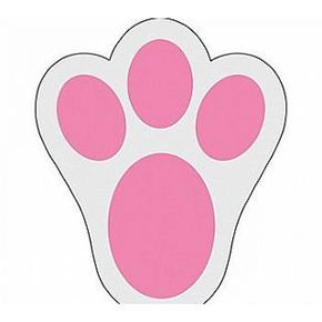 Easter Bunny Footprint Stencils Clipart.