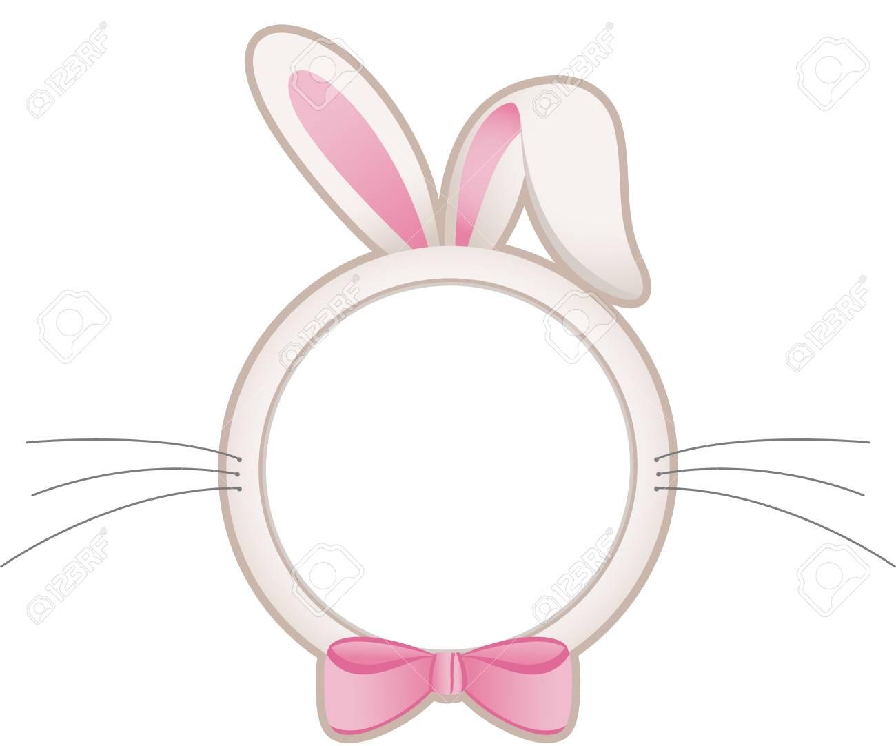 Easter bunny head frame.