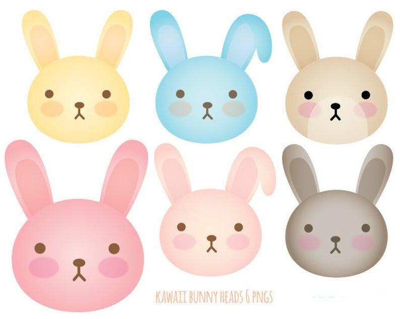 Kawaii Bunnies Clip Art.