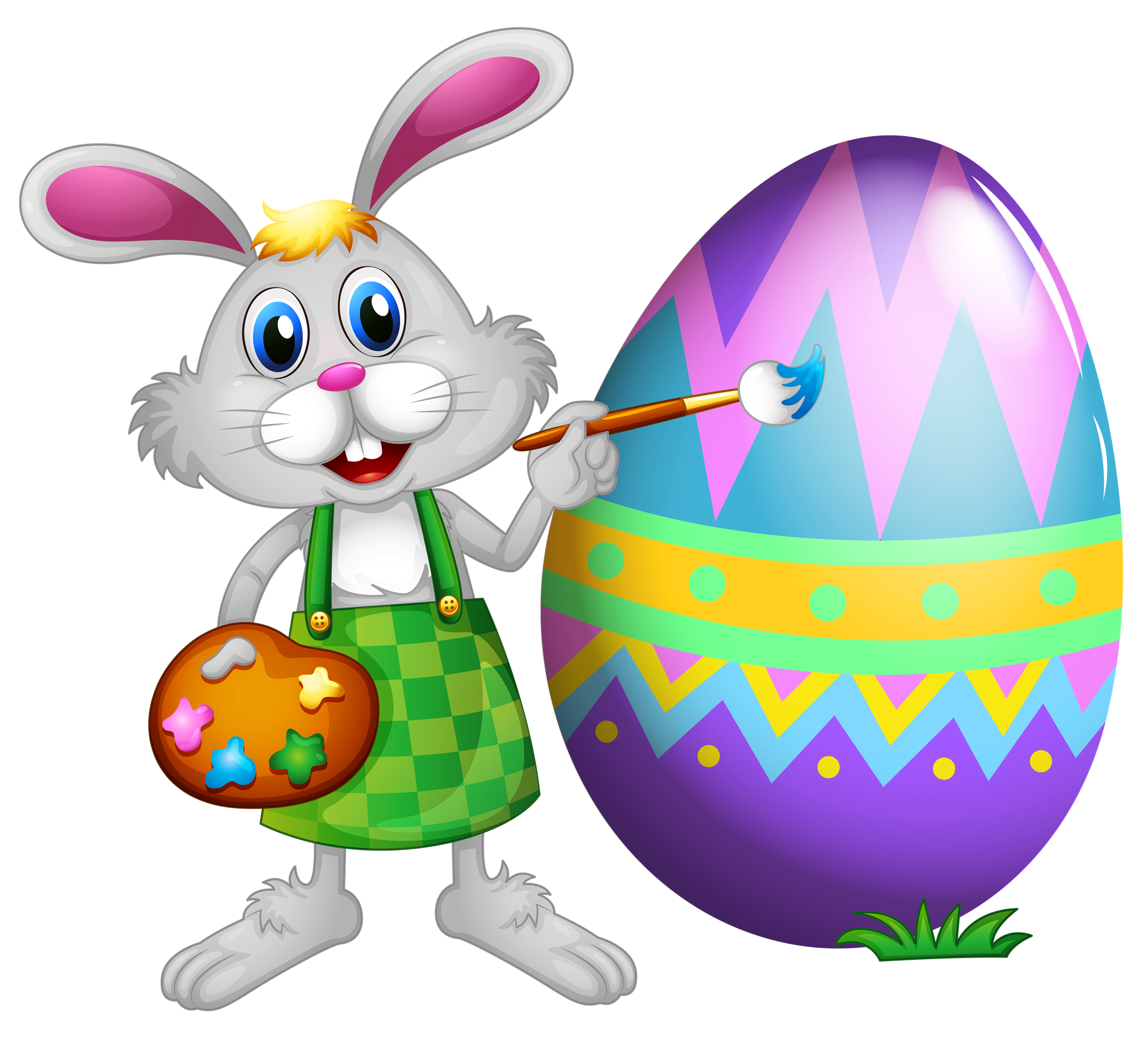 Easter Bunny Clipart Couple.