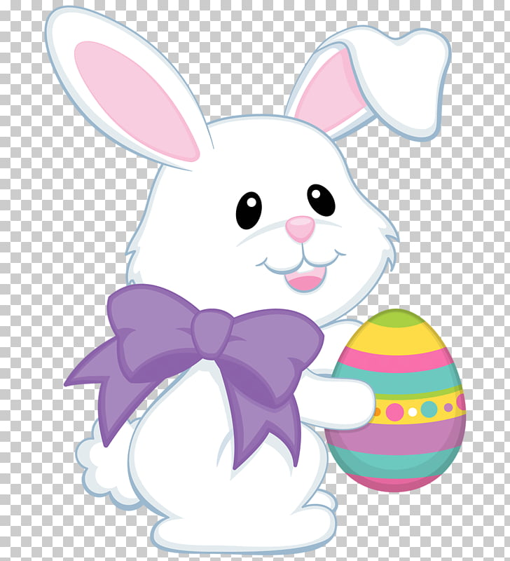 Easter Bunny Rabbit Easter egg , Cute bunny PNG clipart.