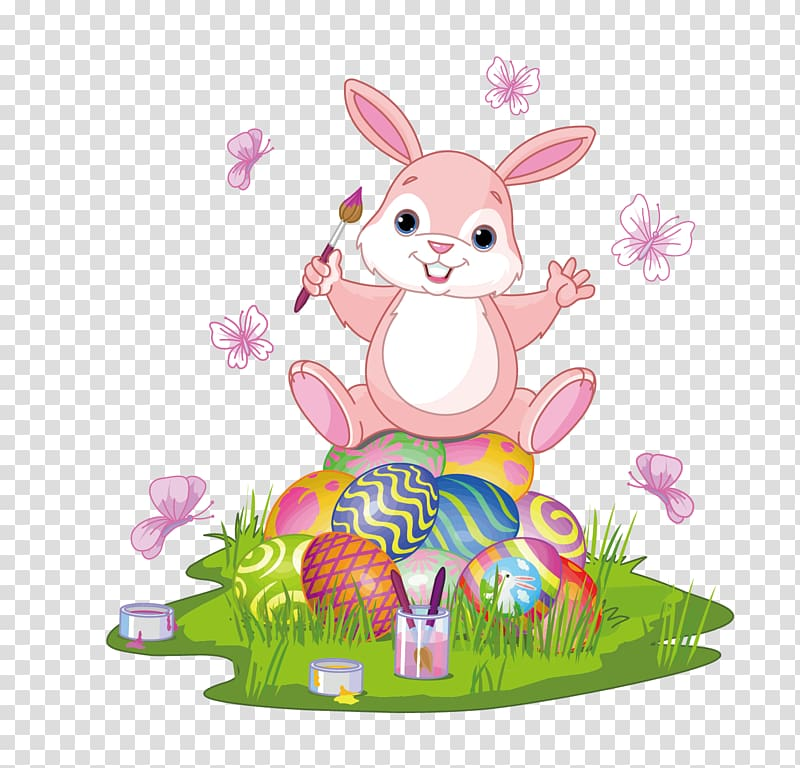 Easter Bunny Rabbit Easter egg , rabbit eggs transparent.