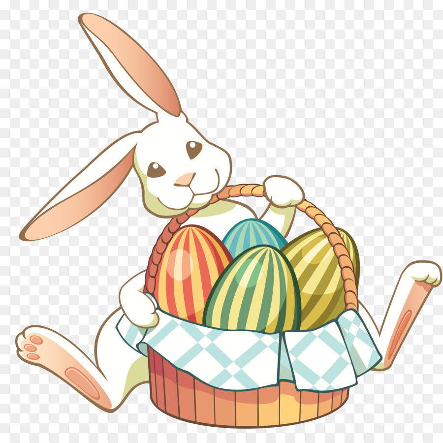 Easter Basket Bunny PNG Easter Bunny Easter Basket Clipart download.