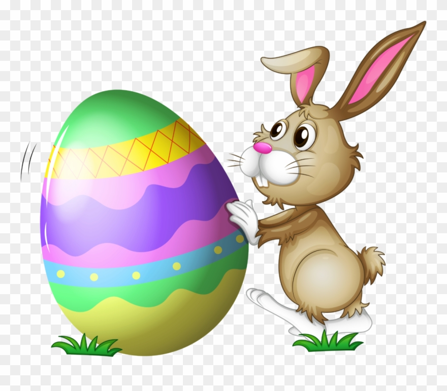Easter Bunny With Egg Transparent Png.