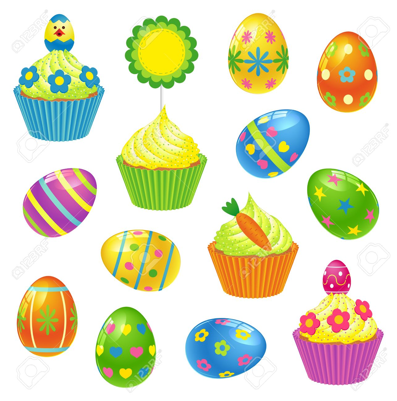 Easter cake free clipart.