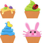 Vector of Easter cupcakes csp5743128.