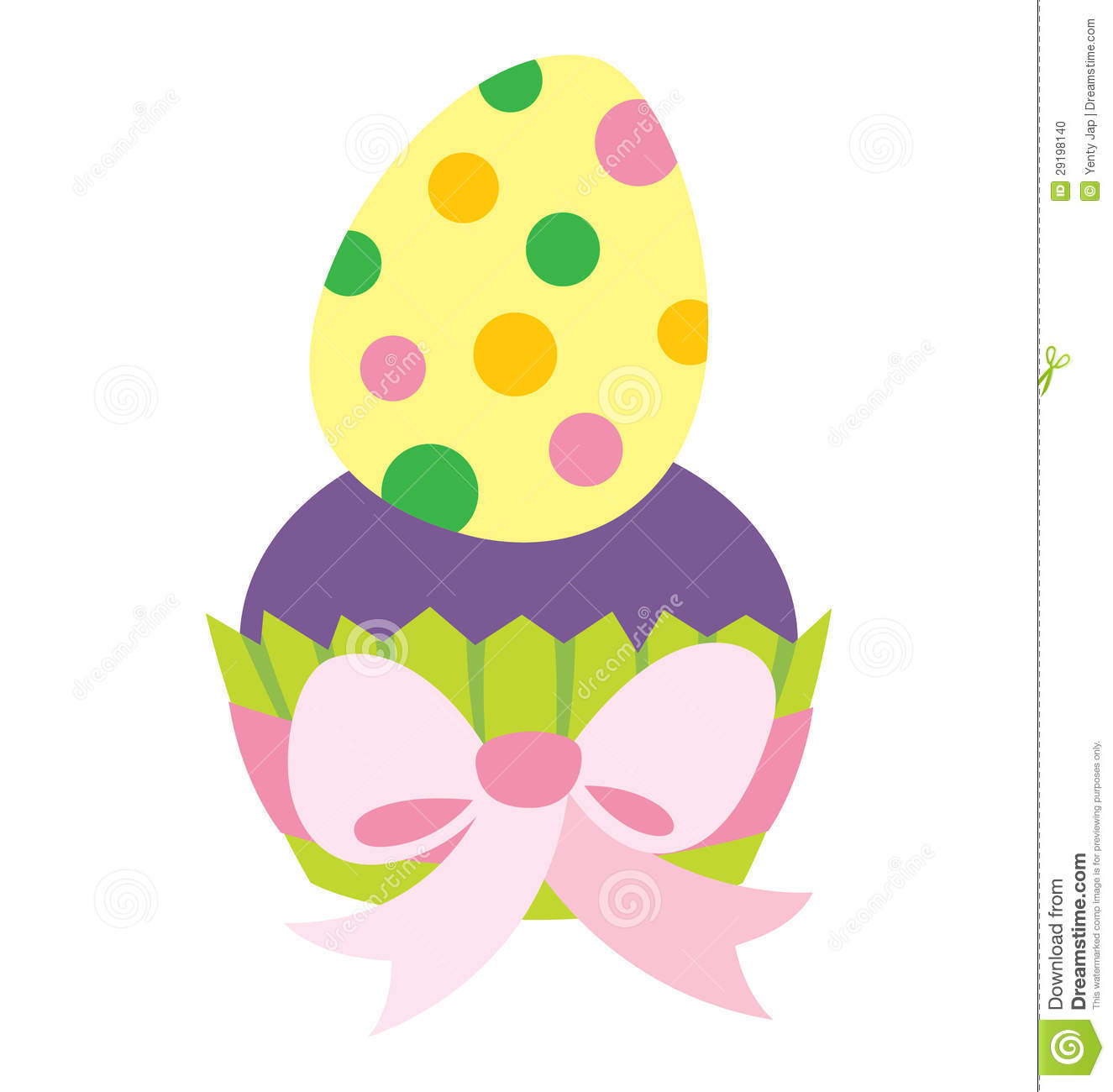 Easter Cupcake Stock Photo.