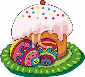 Easter cupcake clipart.