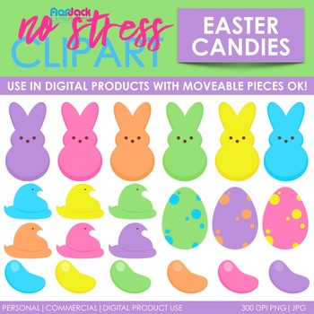 Easter Spring Candy Clip Art (Digital Use Ok!).