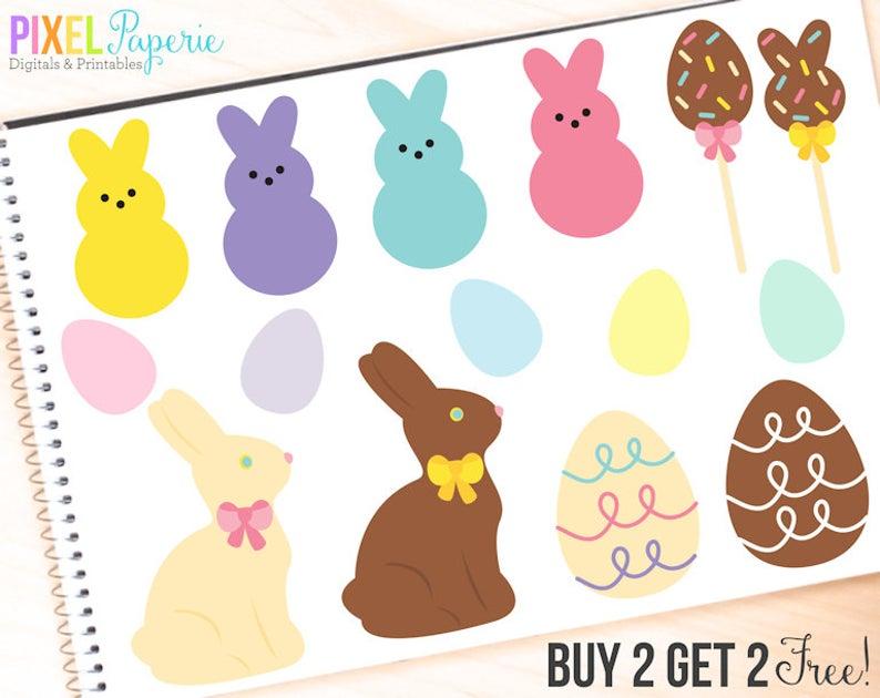easter clipart candy clip art digital bunny egg chocolate.