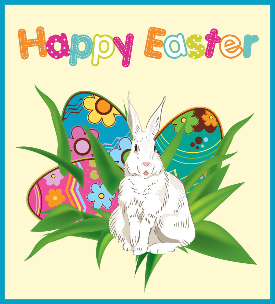 Easter Day Clip Art and Photo March Calendar.