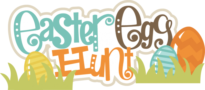 Easter egg hunt sign clipart.