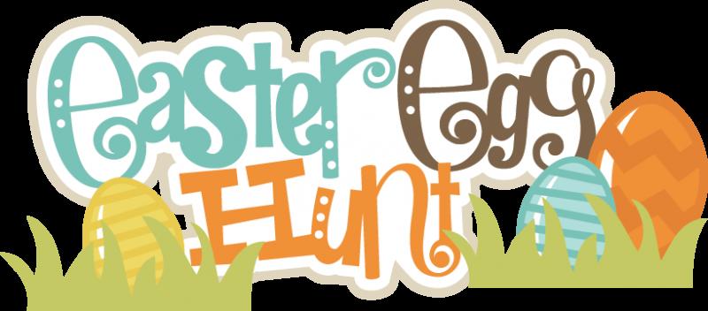 Easter egg hunt sign clipart.