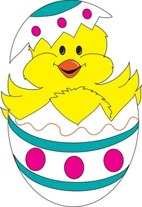 Easter Chick Clipart.