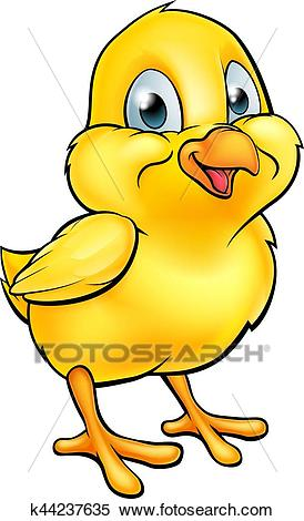 Cartoon Easter Chick Clipart.