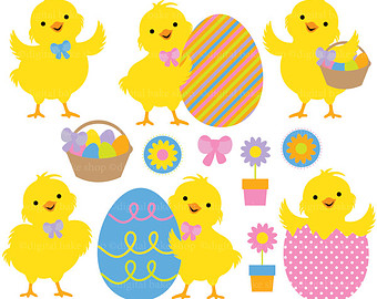 easter chicks clipart - Clipground