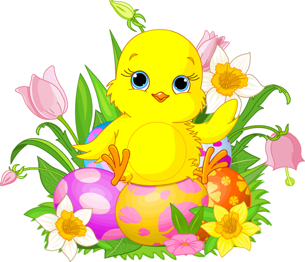 Easter Chicks Free Clipart.