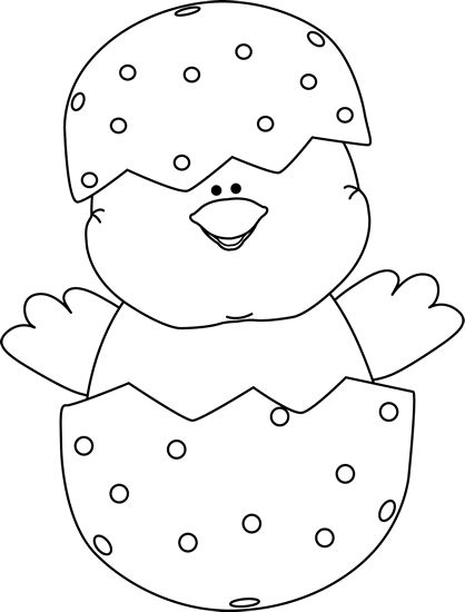 Easter Chicks Clipart Black And White.