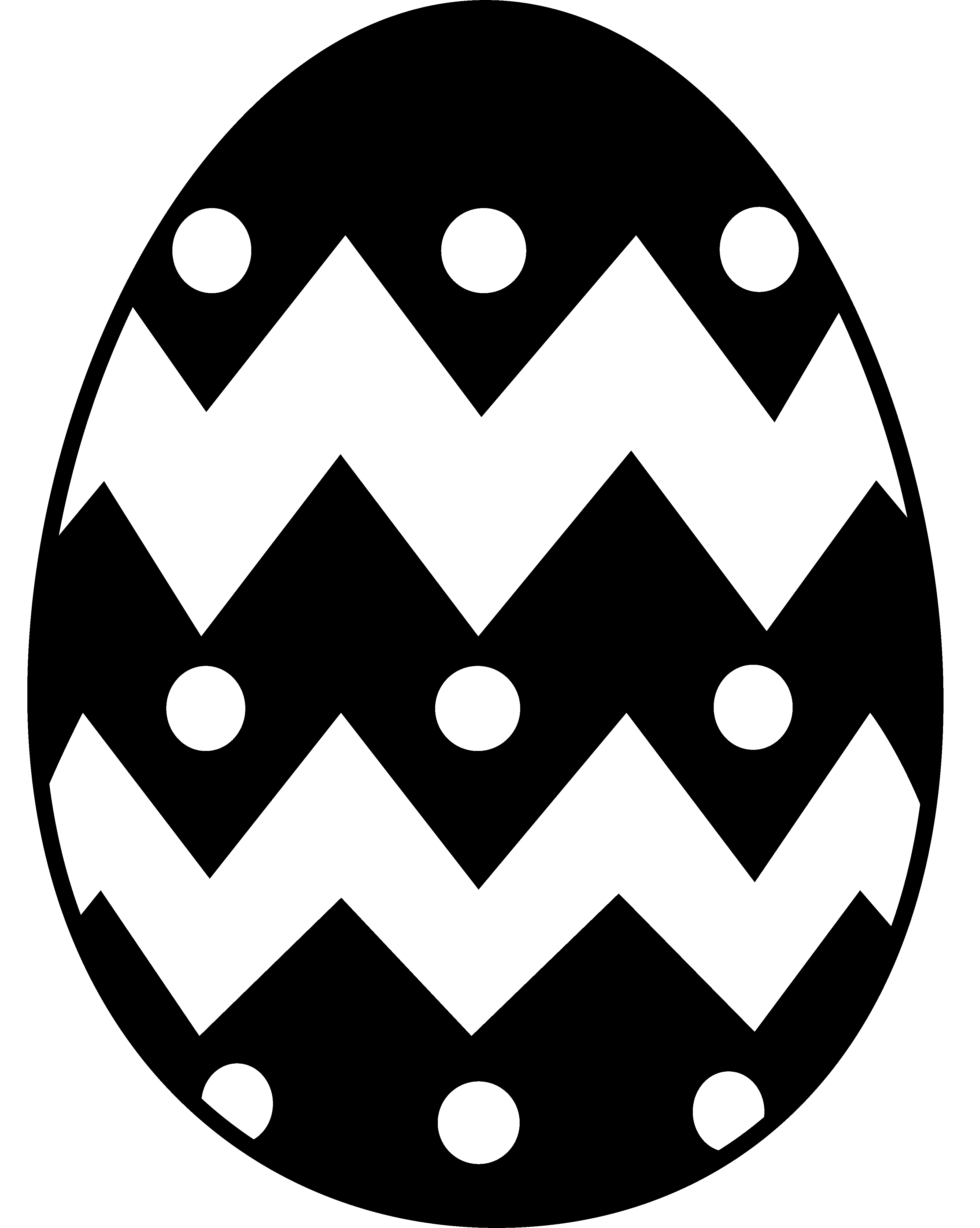 Free Clip art of Egg Clipart Black and White #2947 Best Easter.