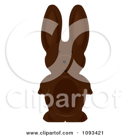Clipart Chocolate Easter Bunny 3.