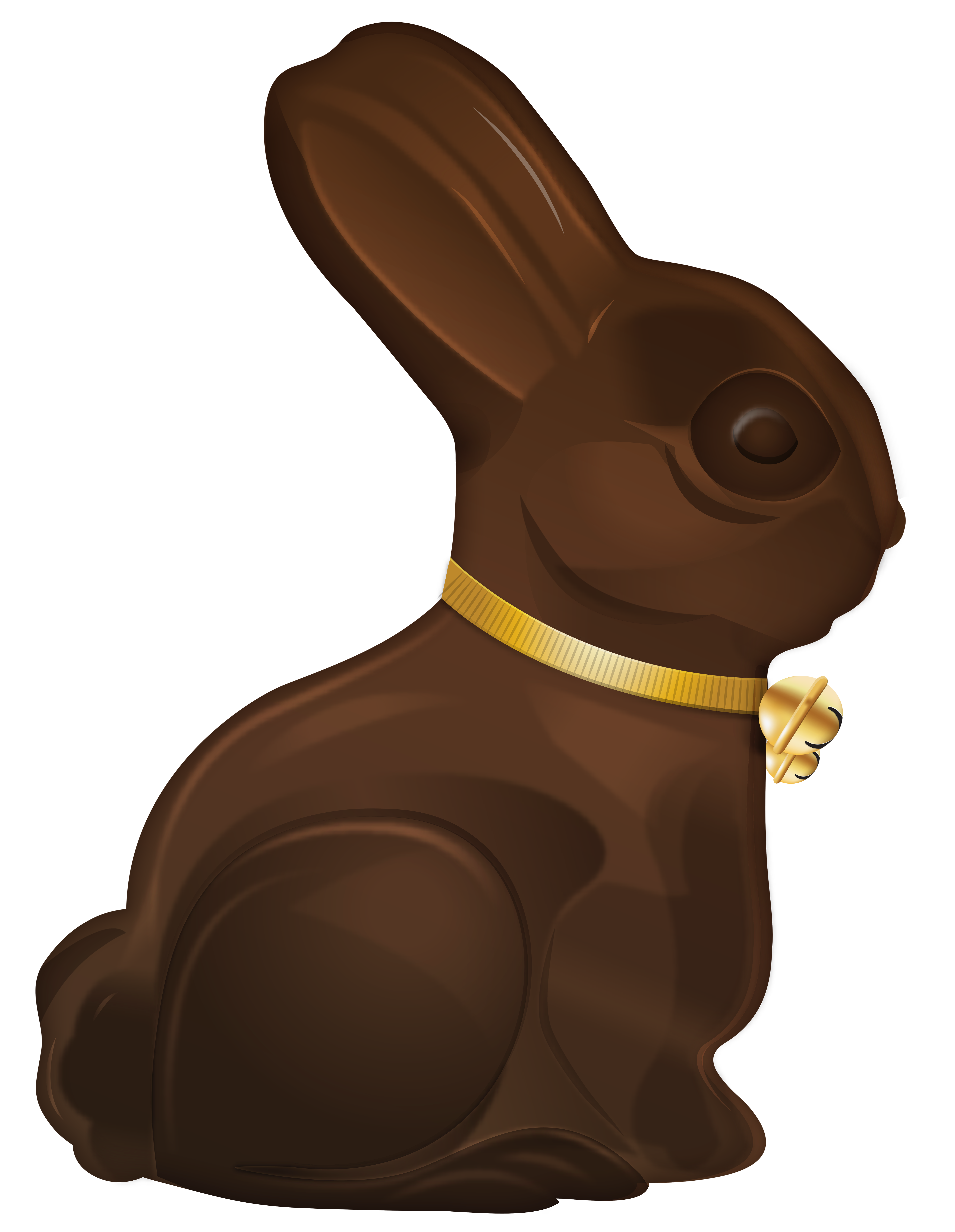 Easter Choco Bunny PNG Clip Art Image.