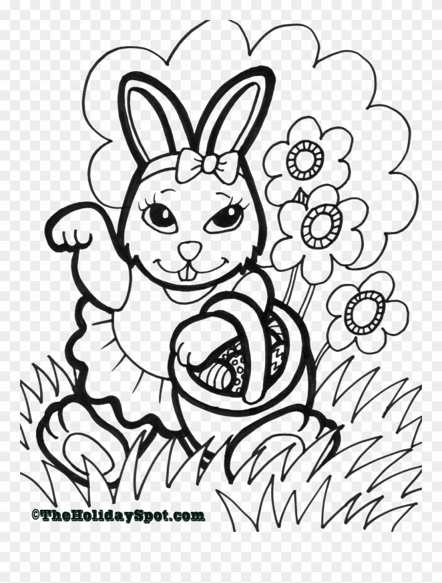 Easter Coloring Page Print And Color.