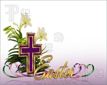 Easter Christian Border Clipart.