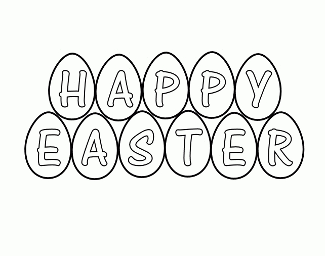 Happy Easter Clipart Black And White.