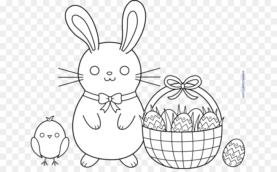 Easter Egg Coloring Pages clipart.