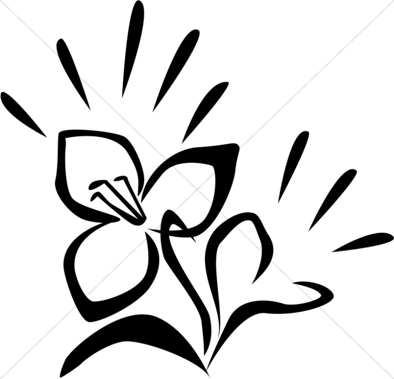 Church Flower Clipart, Church Flower Image, Church Flowers Graphic.