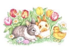 Free Easter Flower Clipart.