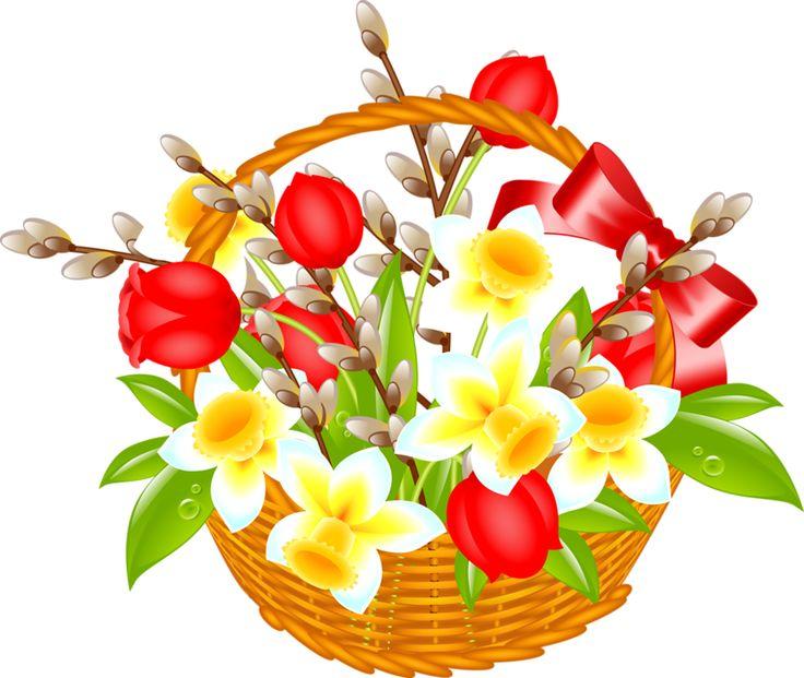 Easter Floral Arrangement Clip Art.