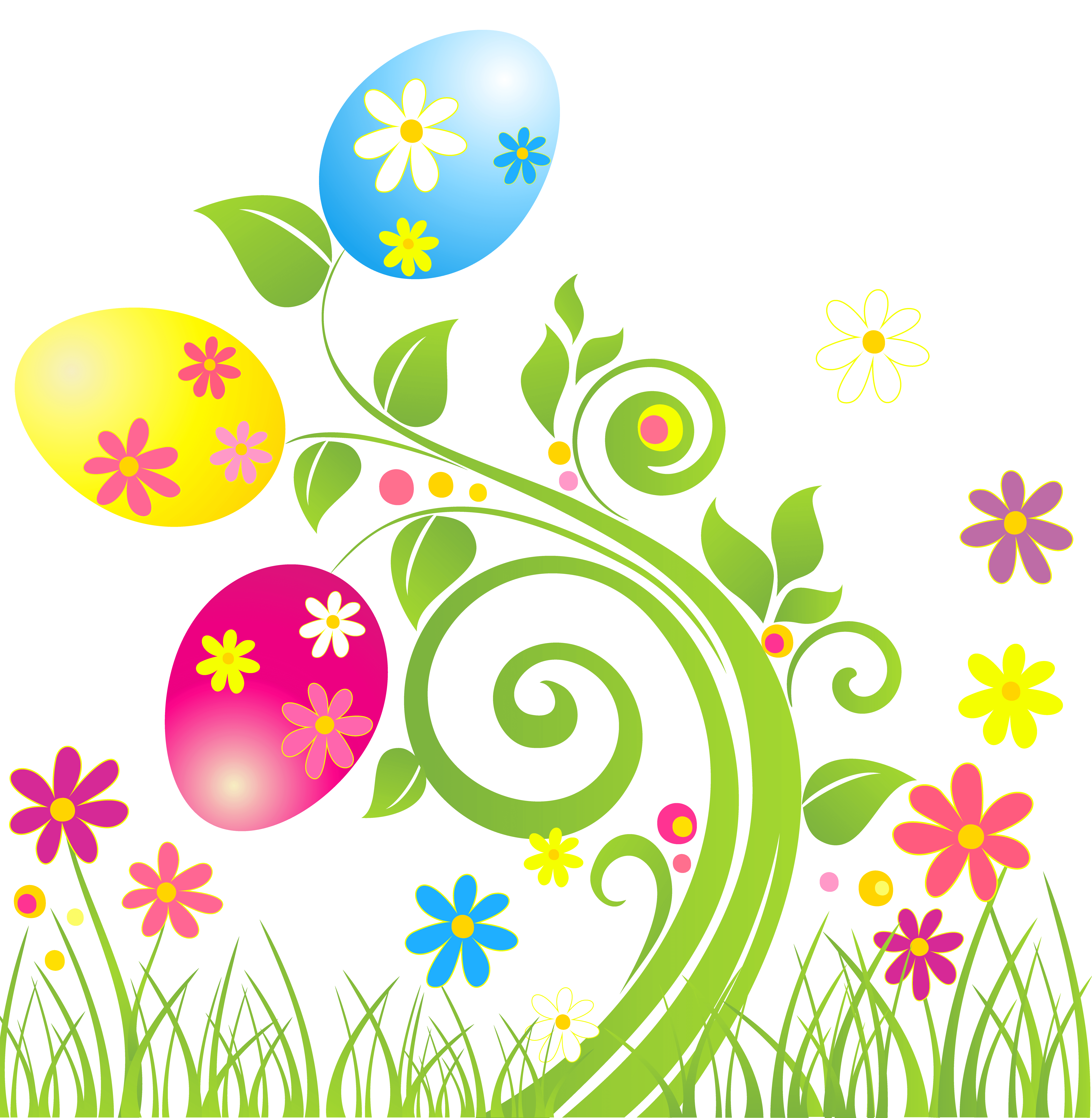 easter clipart flower borders - Clipground