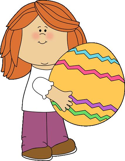 Easter Kids Clip Art.