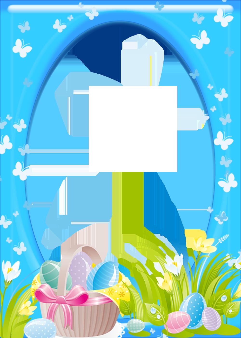 Easter Transparent PNG Frame.