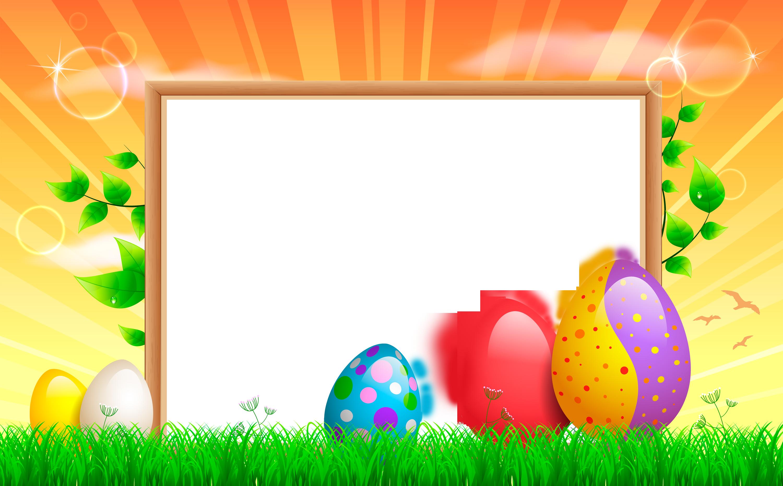 Transparent Easter Frame.