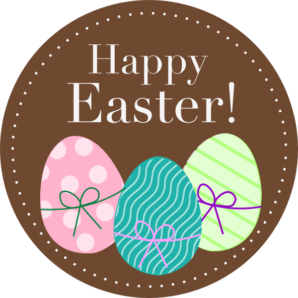 Happy Easter Clipart transparent PNG.