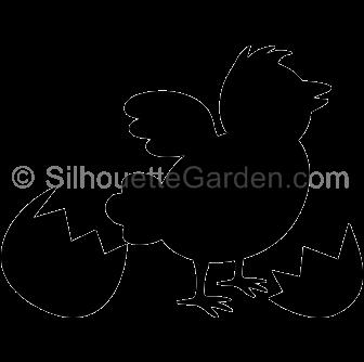 Chick Silhouette.