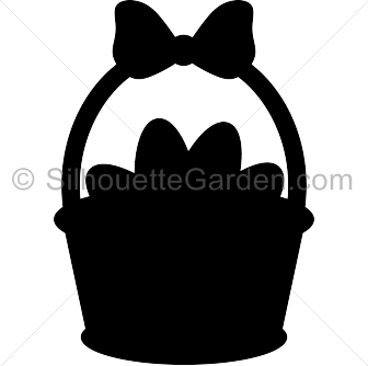 Silhouette Easter Clipart.