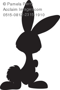 Easter Silhouette Clipart.