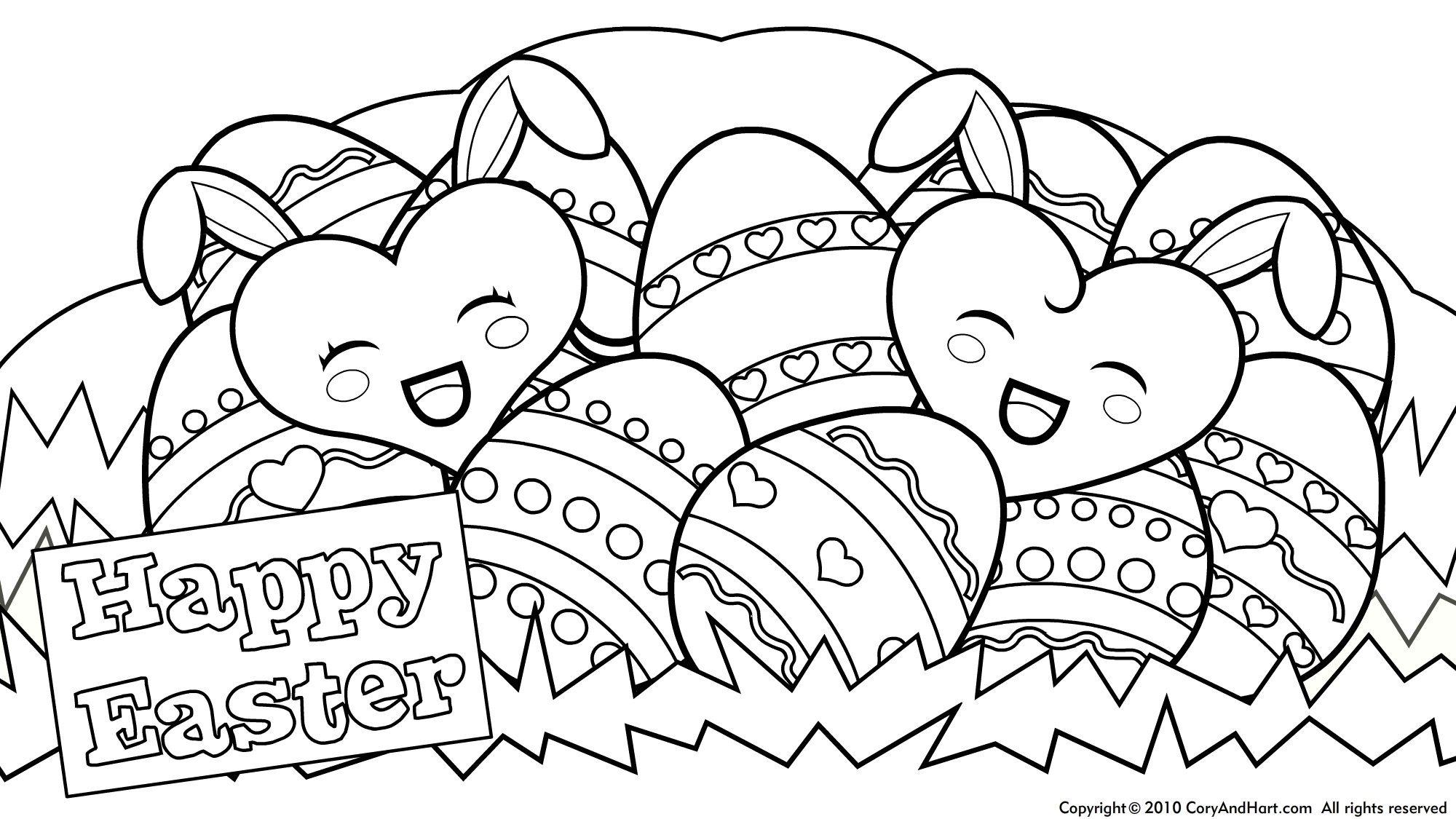 Easter Pictures To Print And Colour.