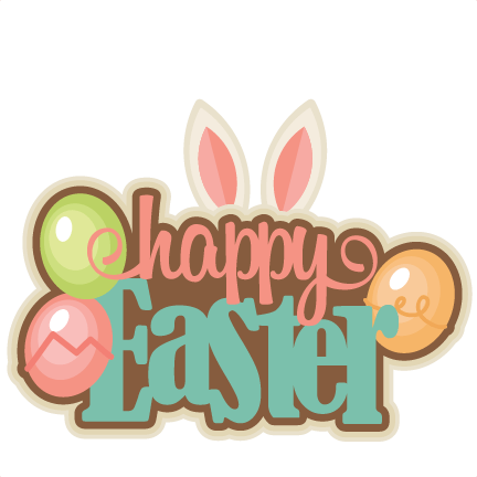Happy Easter Colourful Clipart transparent PNG.
