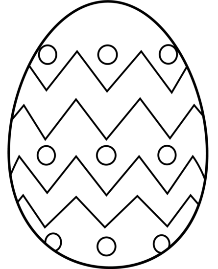 Easter egg border clipart to color.