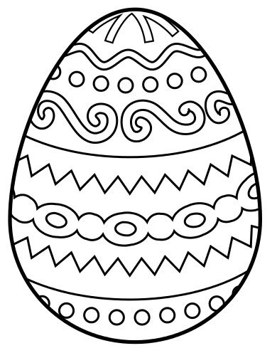 easter egg border clipart to color Clipground