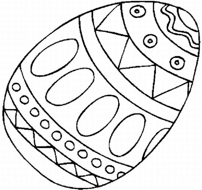 Easter egg clipart to color.