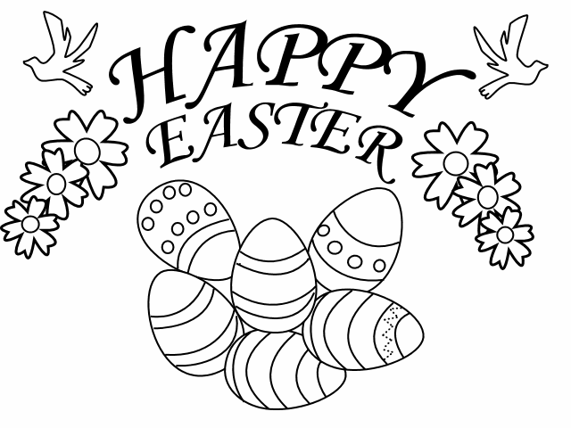 Easter Clipart To Color.