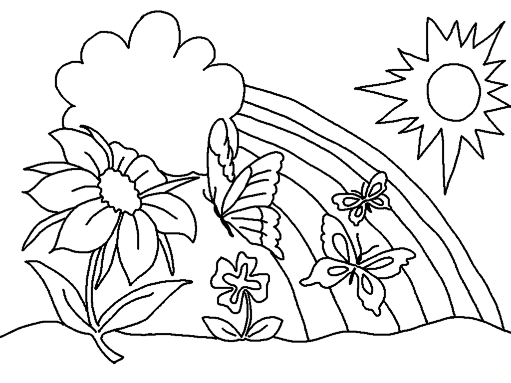 Spring Coloring Pages.