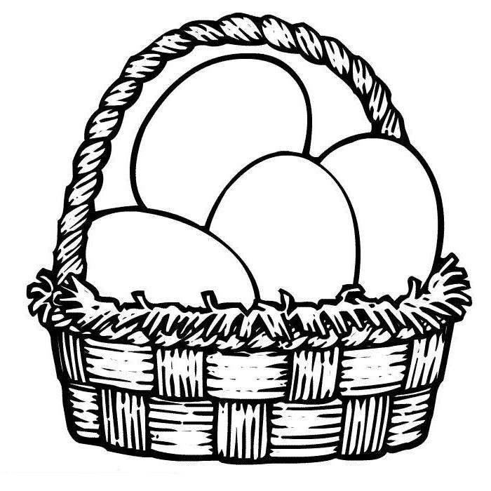 Easter Basket Clipart.