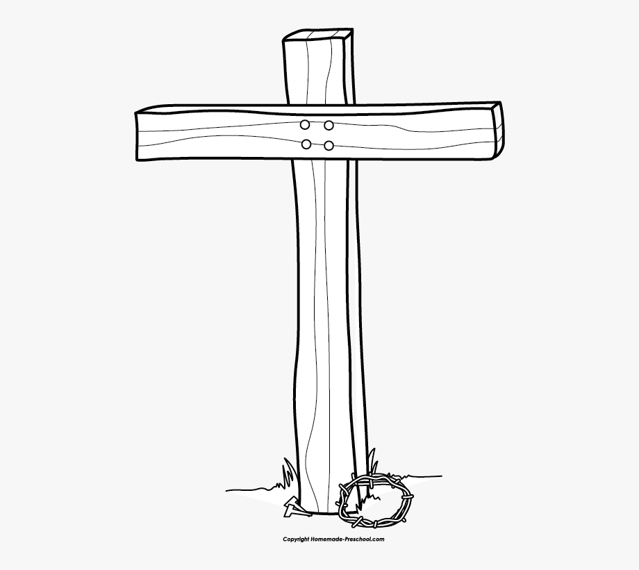 Cross Black And White Picture For Easter Cross Clipart.
