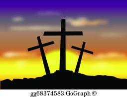 Easter Cross Clip Art.